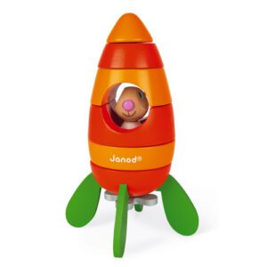 Cohete de Zanahoria Magnético (Madera)