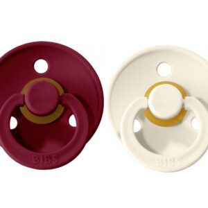 2 Chupetes BIBS Colours Ivory/Ruby