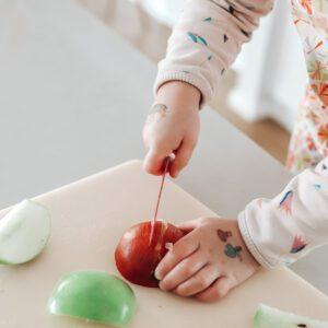 Cuchillo Autonomía Niños Naranja Kiddikutter