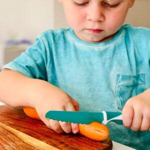 Cuchillo Autonomía Niños Verde Kiddikutter