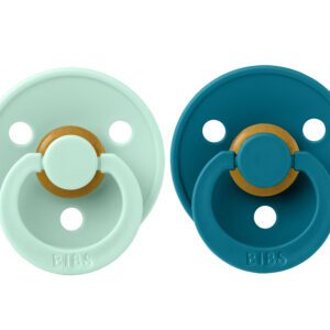 2 Chupetes BIBS Colours Nordic Mint/Forest Lake