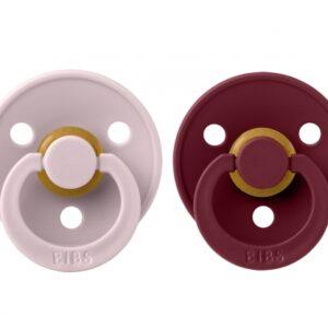 2 Chupetes BIBS Colours Pink Plum/Elderberry