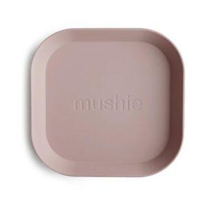 2 Platos Mushie Square Blush